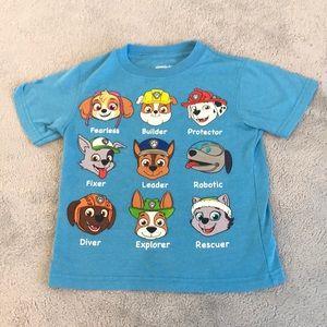 Nickelodeon 4t paw patrol shirt